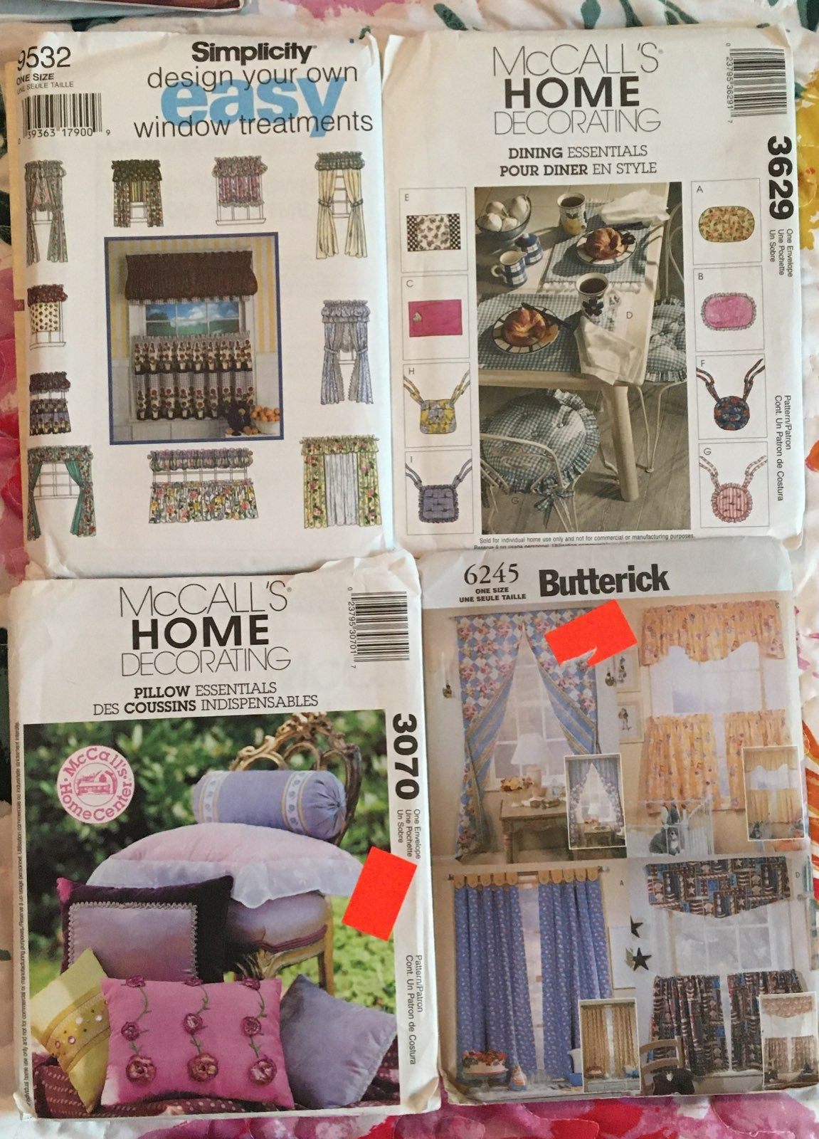 Home Decorating sewing patterns uncut