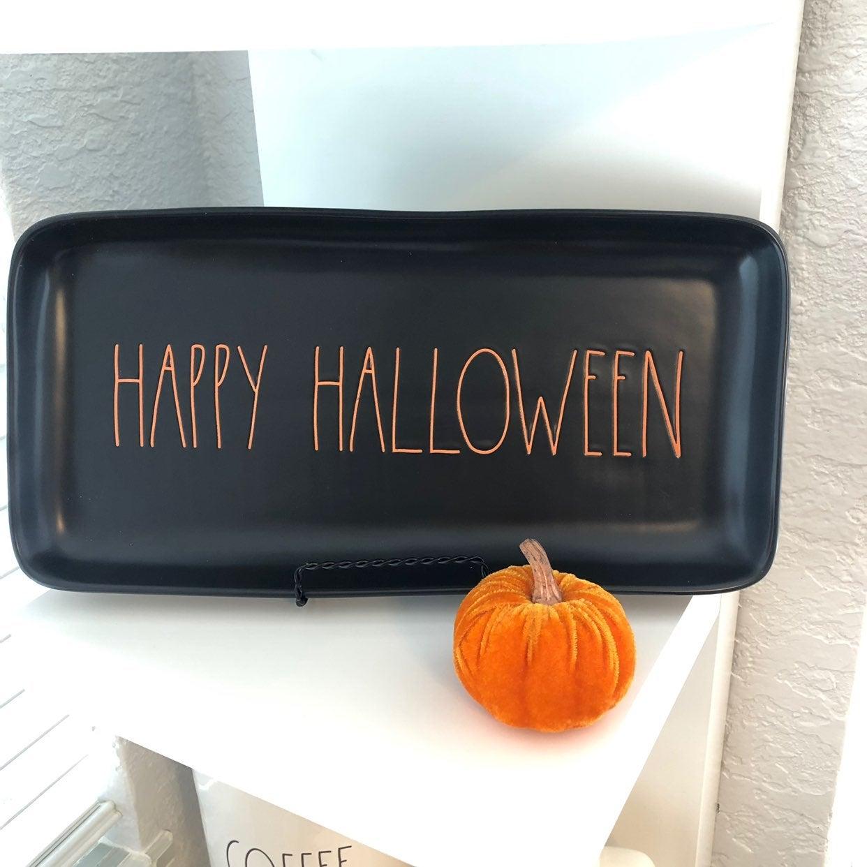 Rae Dunn Happy Halloween Serving Tray
