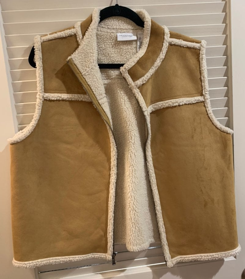 Liz Claiborne Zip-up Suede Vest