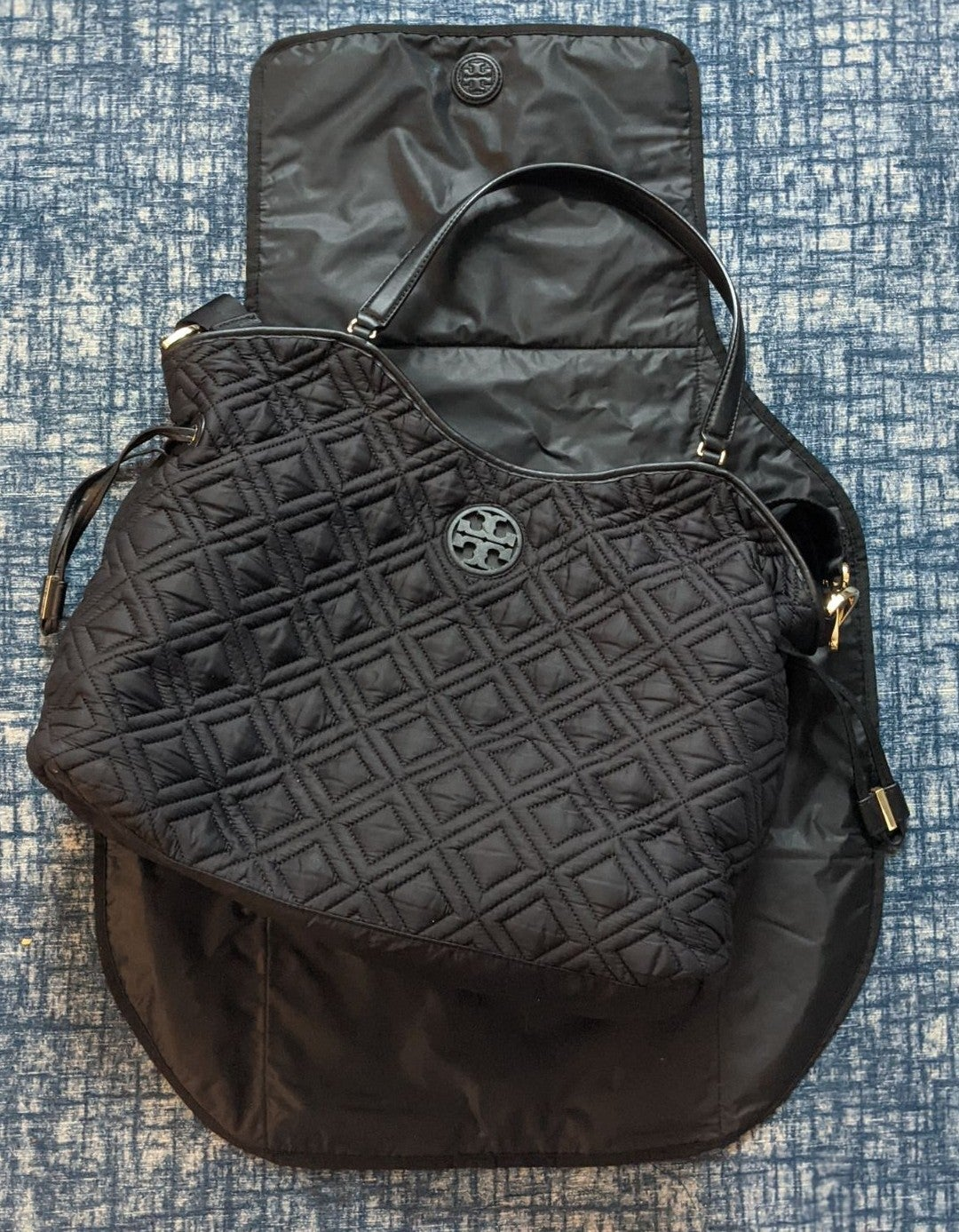 Tory Burch Quilted Diaper Bag