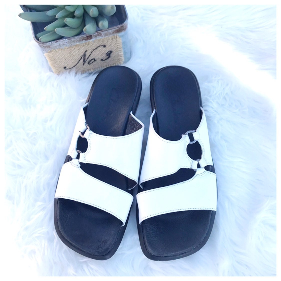 Clarks White Cut Out Wedge Sandal