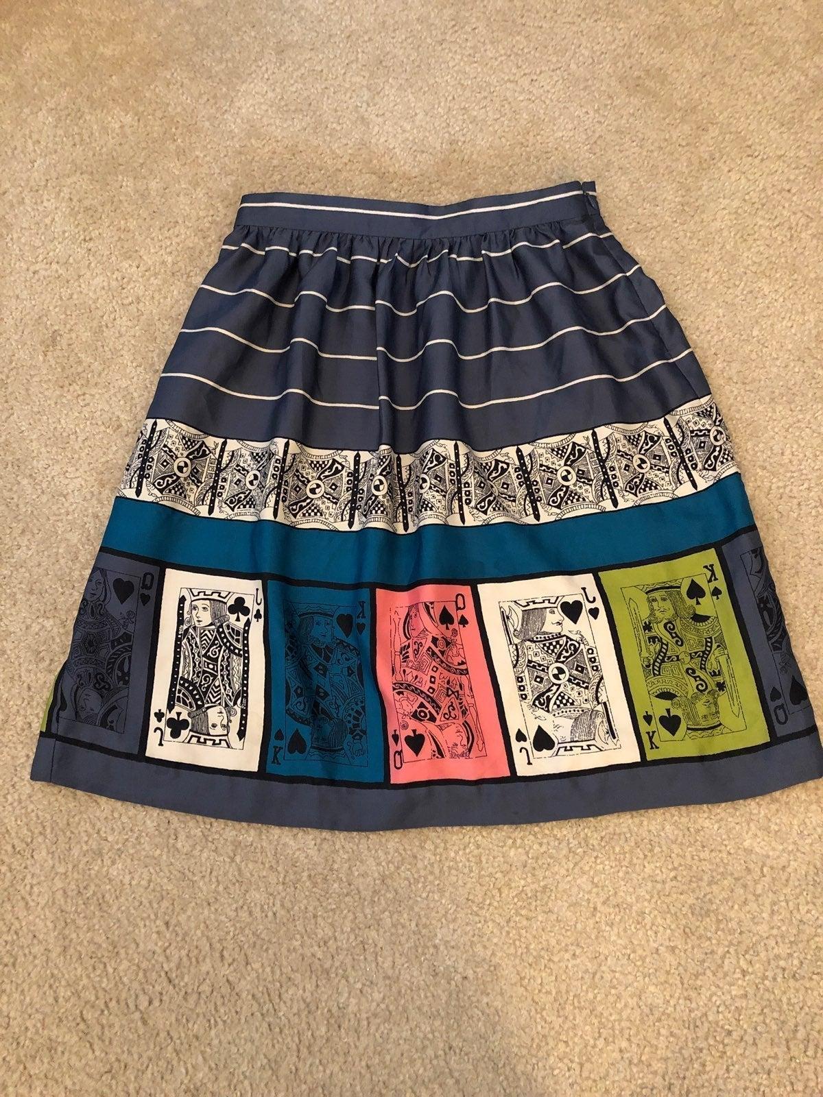 Anthro Edme&Esyllte Pinochle Skirt Sz6
