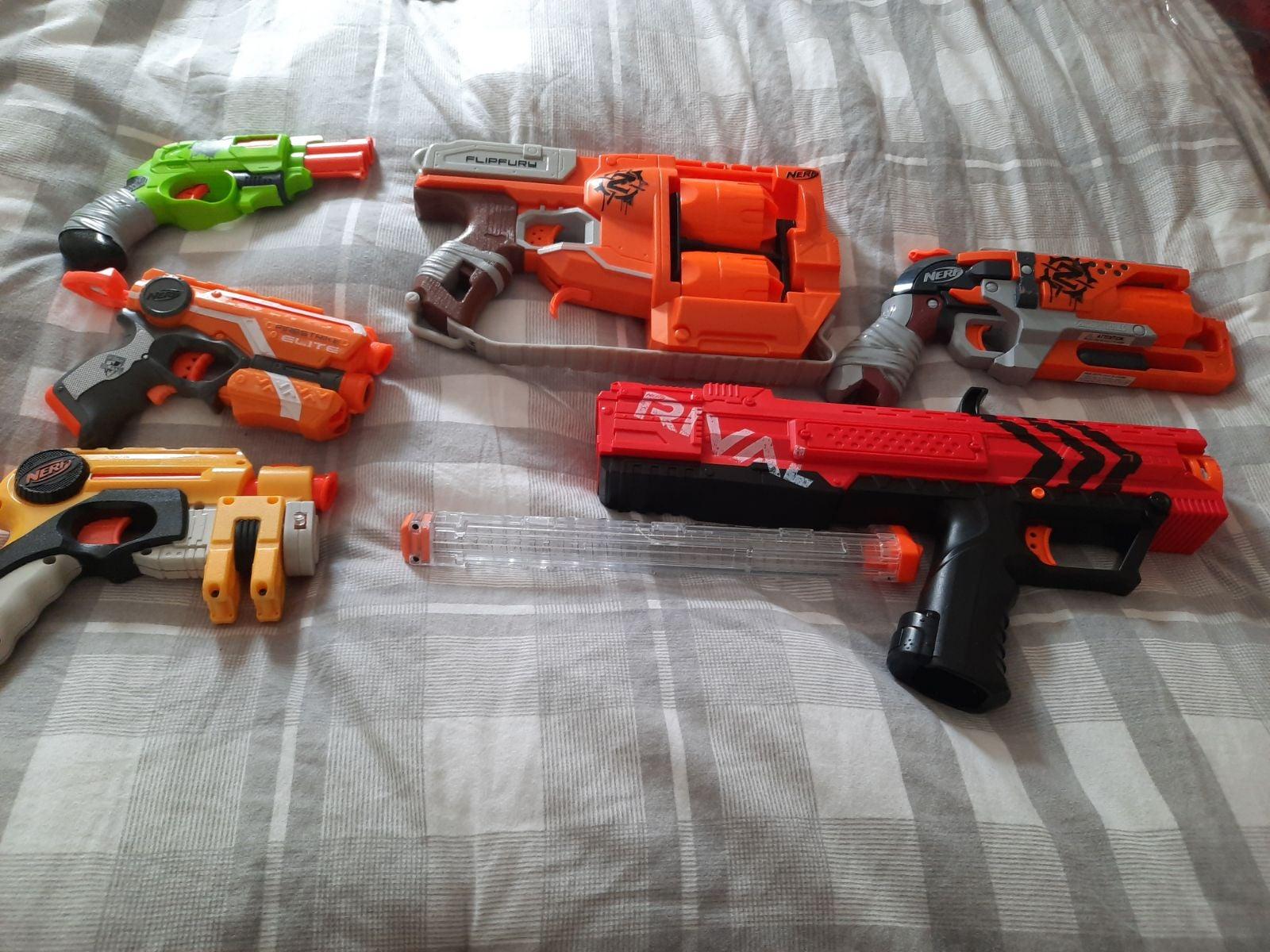 Nerf Gun lot rival