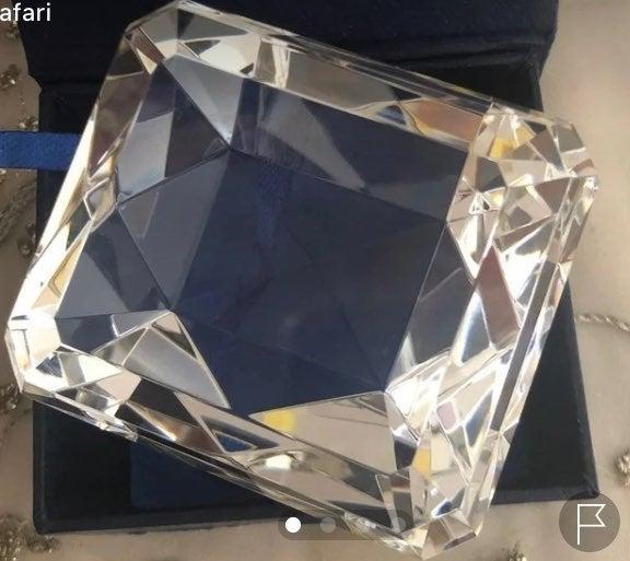 Badash Large Diamond Crystal Paperweight