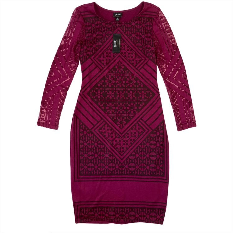 NWT Nicole Miller Medium Midi Dress Shee