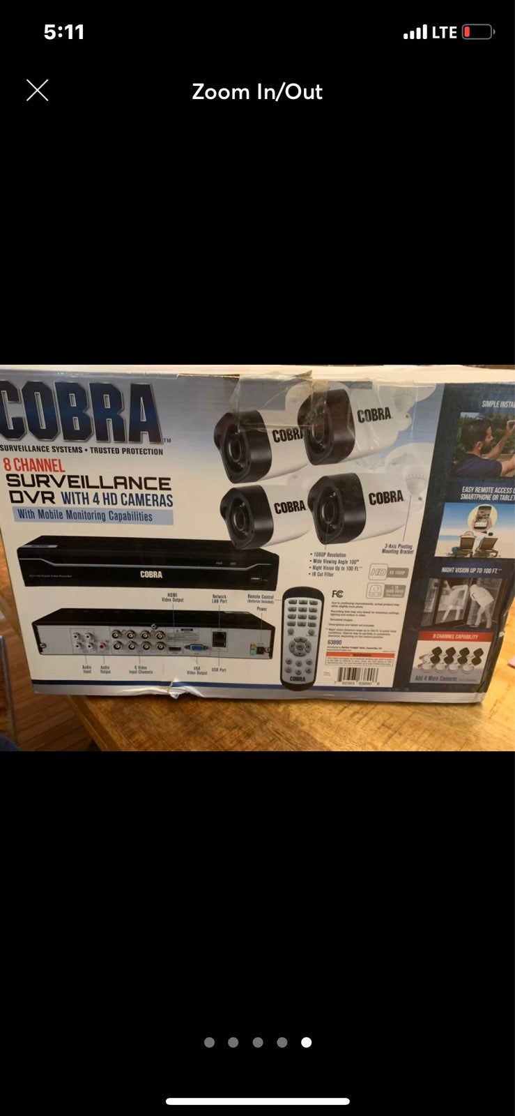 Cobra surveillence camera system