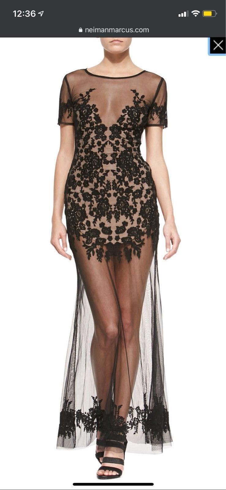 For Love & Lemons Black Luau Maxi Dress