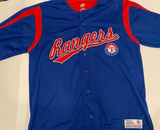 MLB Rangers Large 100% Polyester Jersey