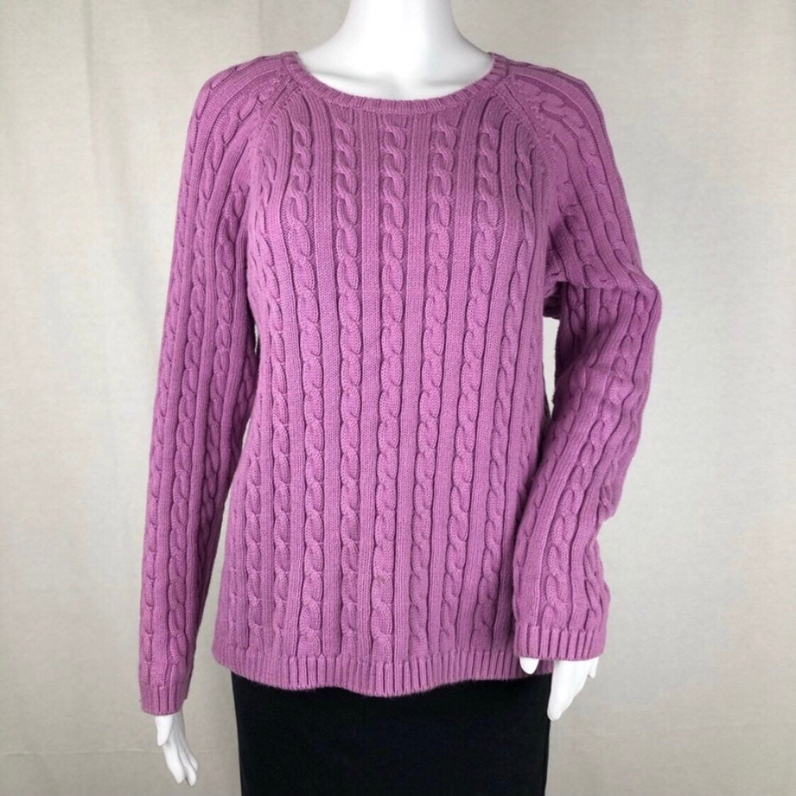 L.L. Bean Lavender Crewneck Sweater