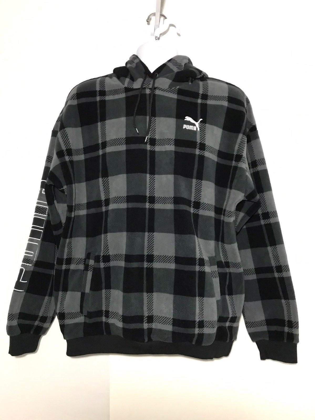 PUMA Check Polar Hoody Hoodie Sweatshirt
