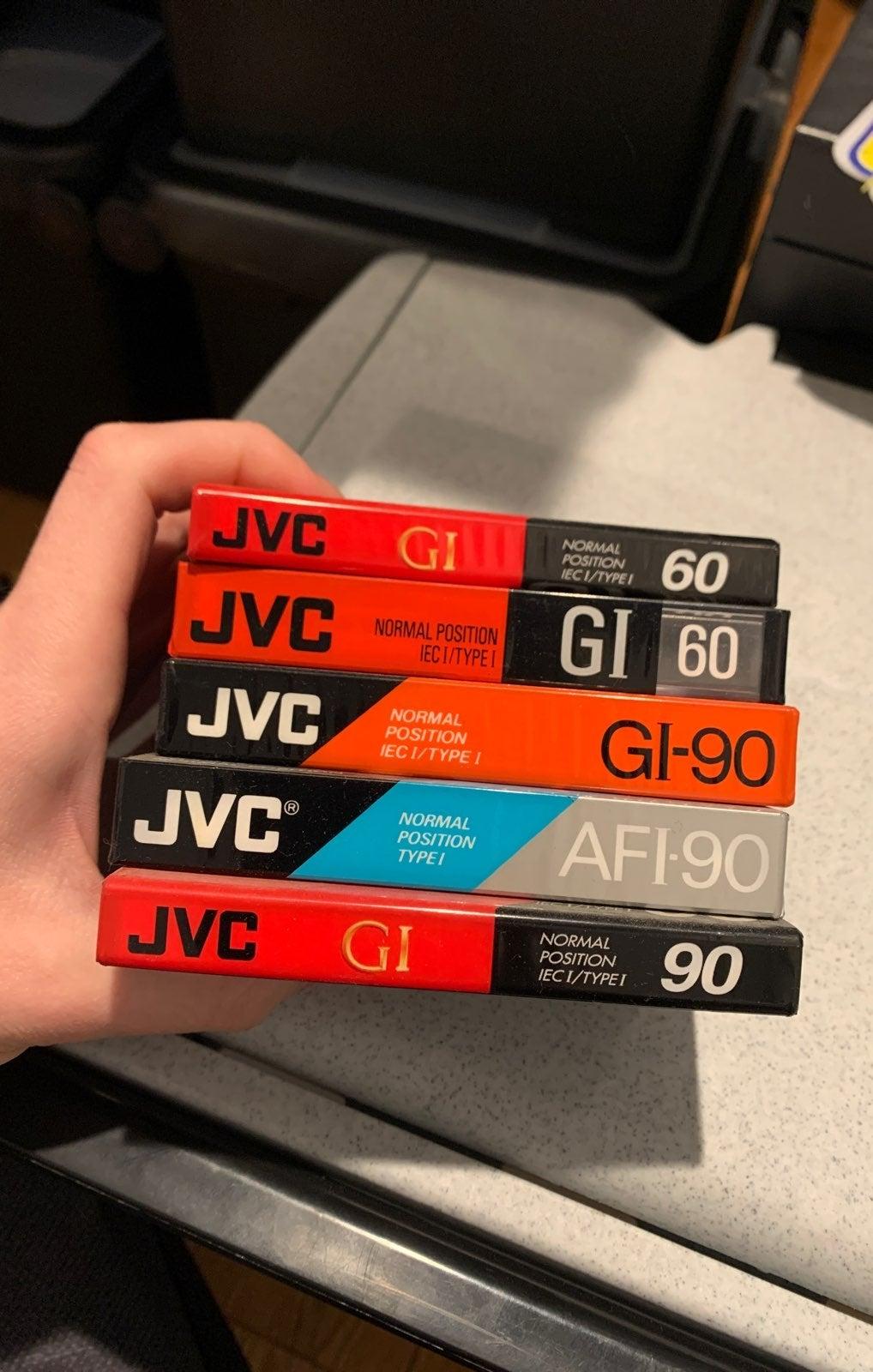 Lot of 5 jvc blank cassettes