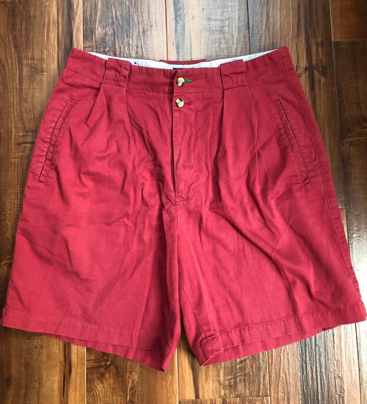 vintage red Tommy Hilfiger mens shorts