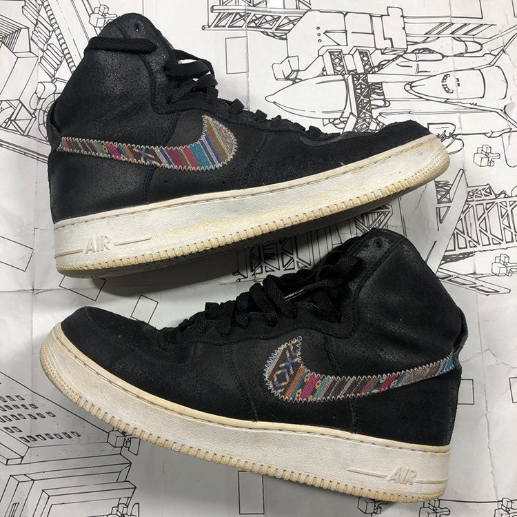 Afro punk Air Force one hi shoes