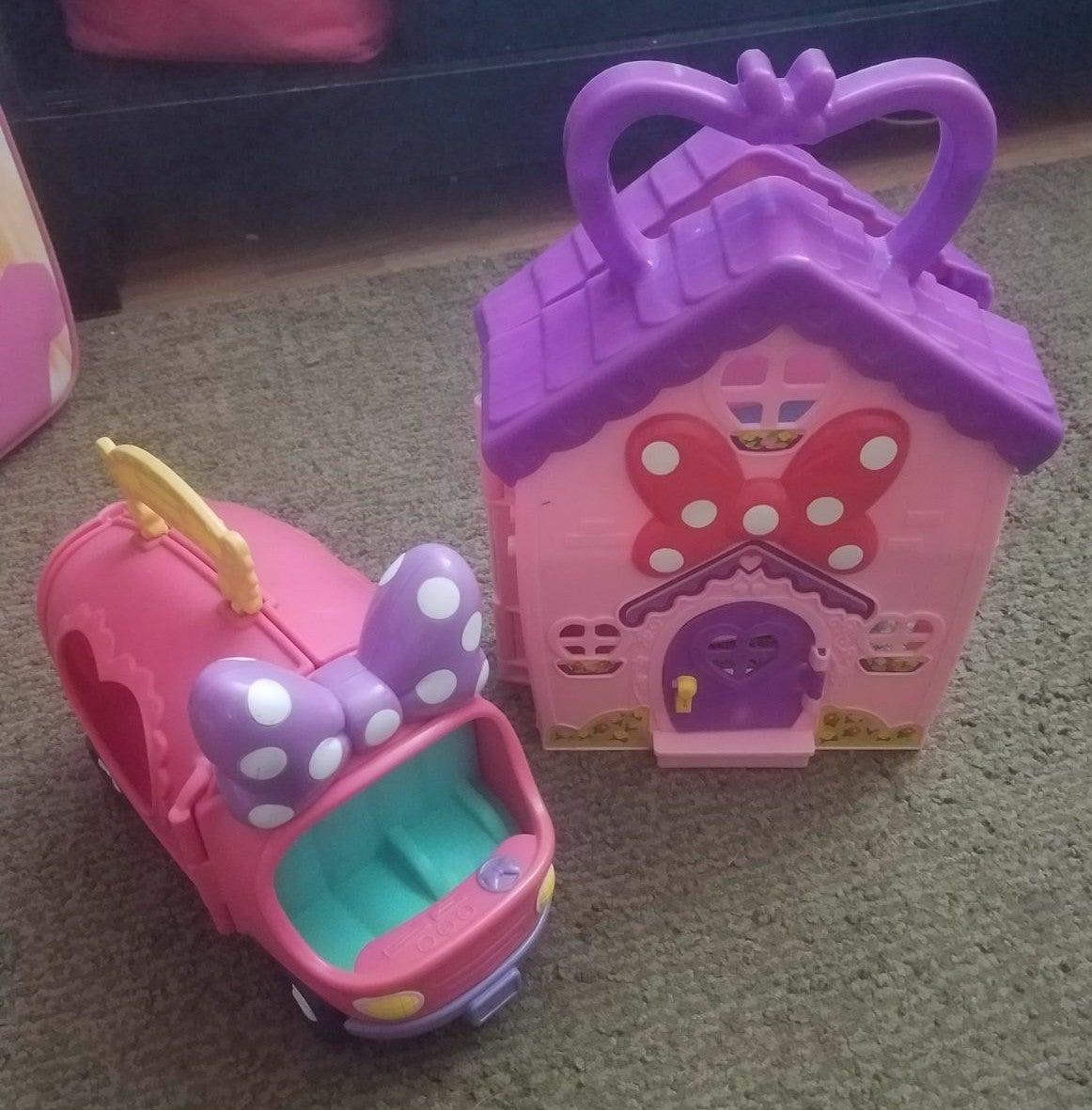 Minnie mouse pet show van & play house