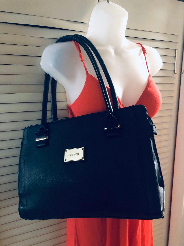 Nine West Black faux leather bag tote