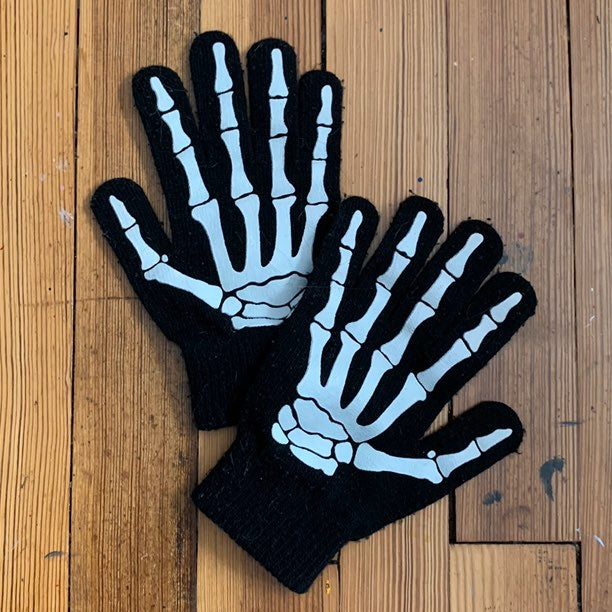H&M Glow in the Dark Skeleton Gloves