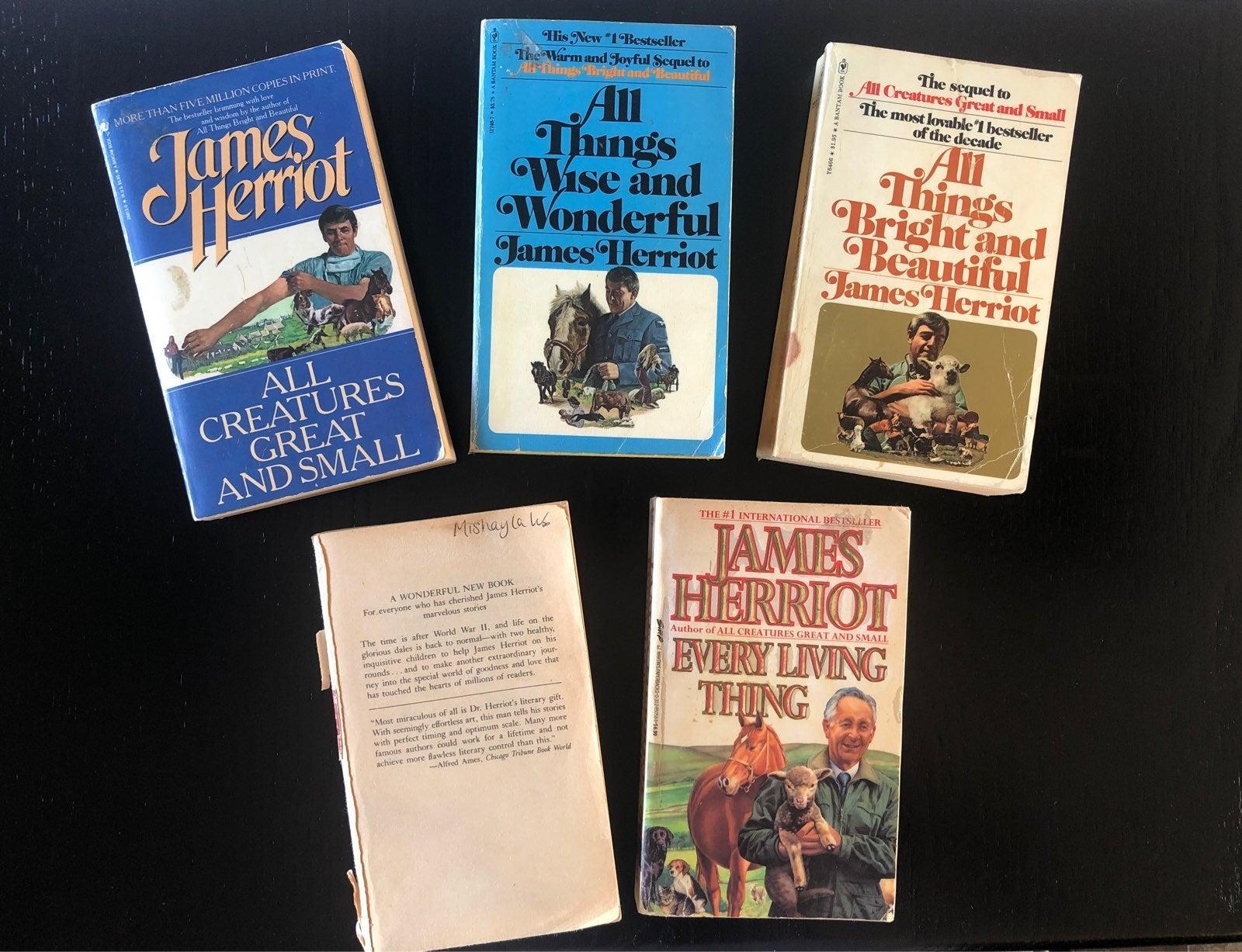 James Herriot vintage book set