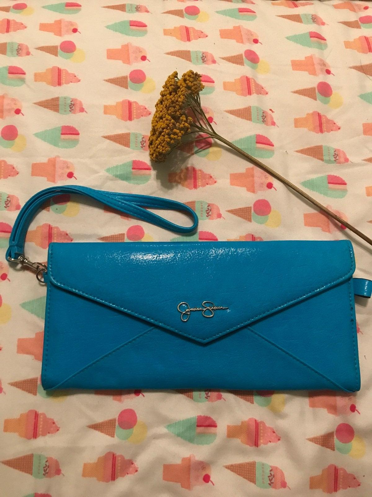 Jessica Simpson Envelope Wristlet - Blue