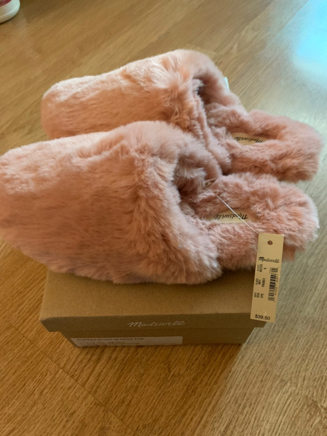 Cute fuzzy house slippers