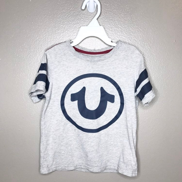 True Religion Shirt Size 5T (Gray/Blue)