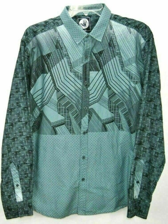 Body Glove Boys XL Shirt Green Geometric