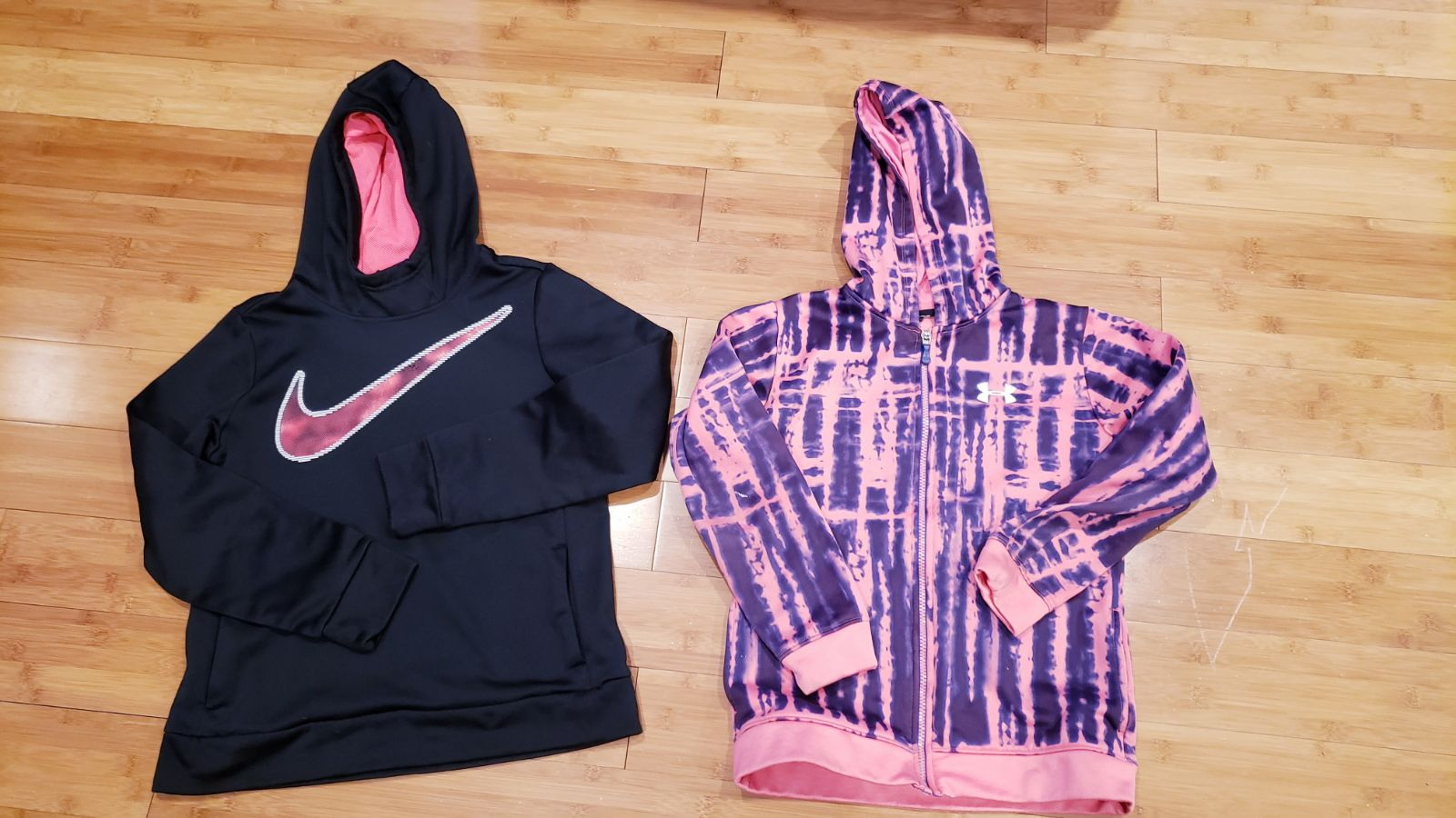 Nike hoodie and under armour full zipper