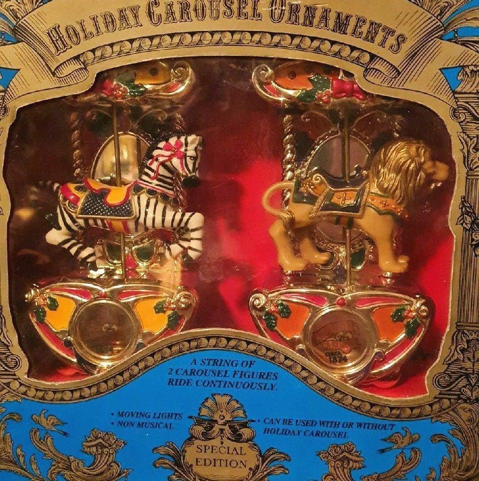 "Holiday Carousel Ornaments ""Mr. Christma"