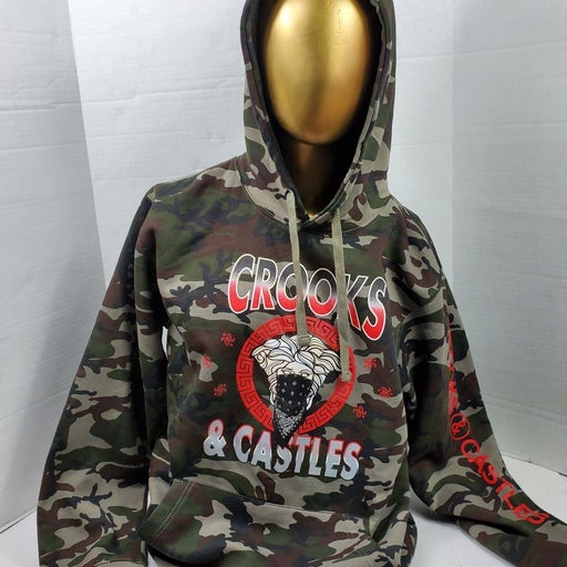 Crooks & Castles Camo Hoodie new