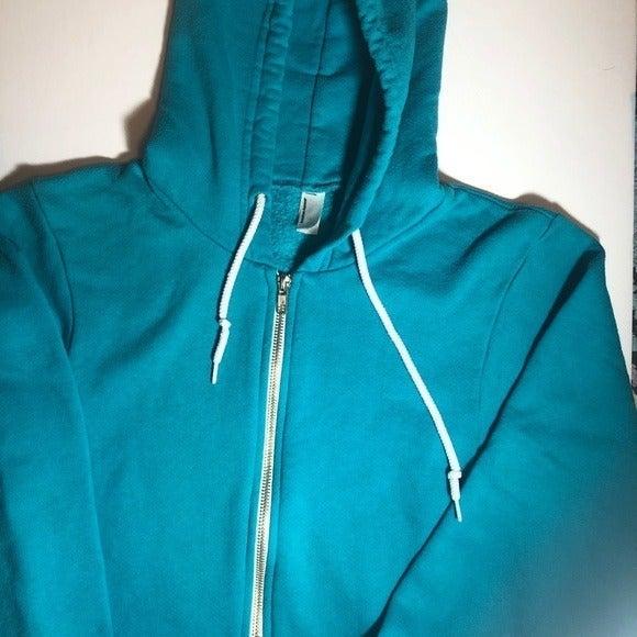 Blue American Apparel Unisex Hoodie S