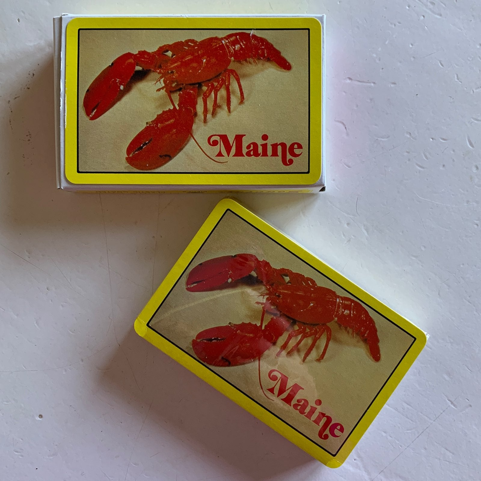 MAINE LOBSTER PLAYING CARDS SOUVENIR NEW