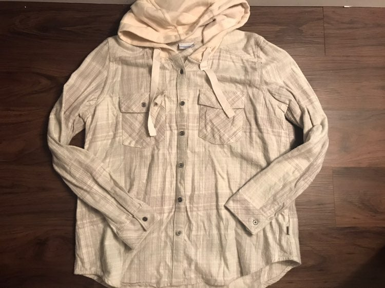 columbia hooded flannel