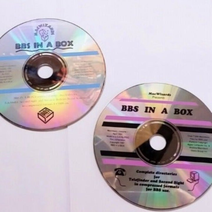 BBS IN A BOX 8,500 Mac Software on 2 CDS