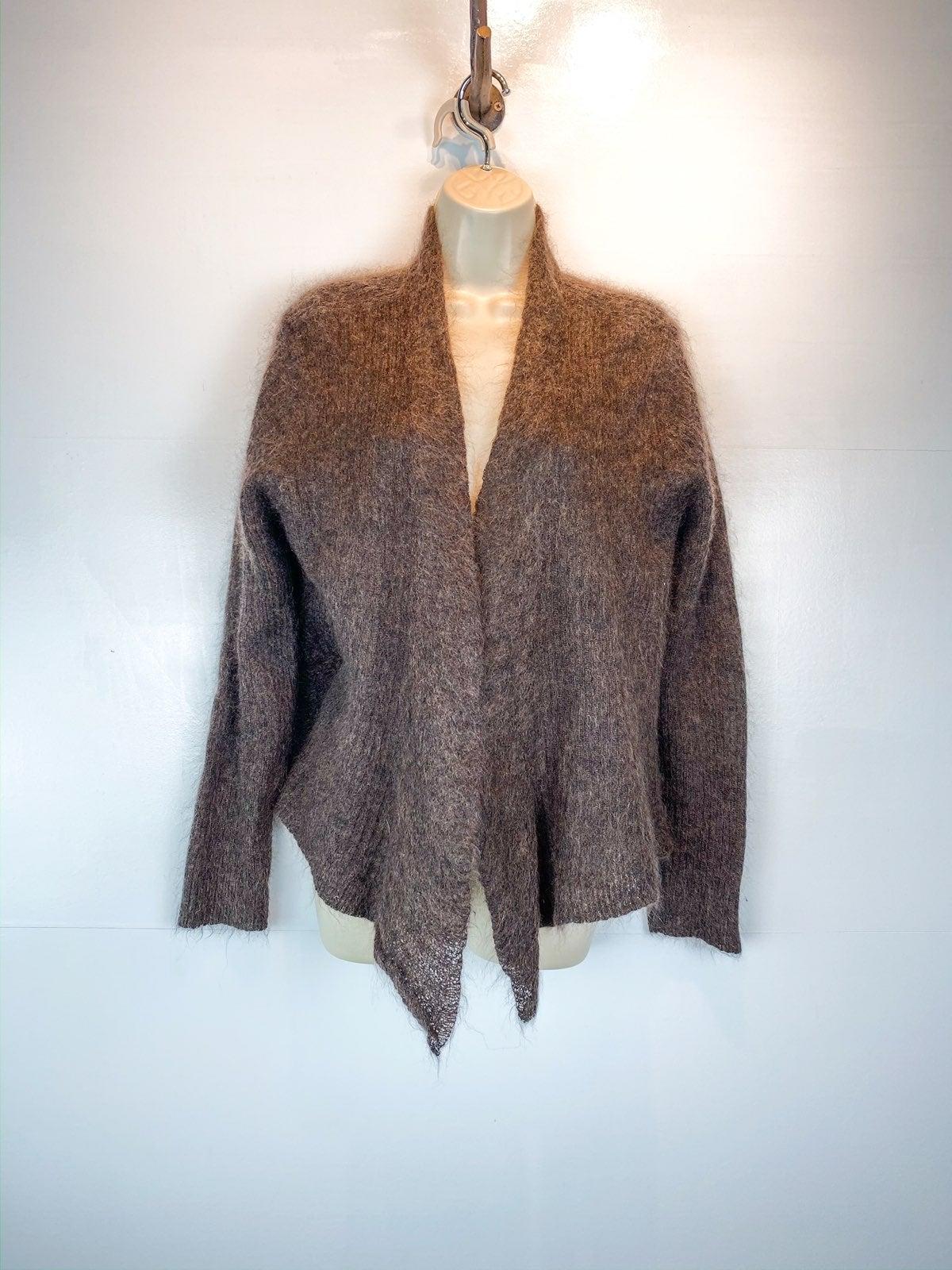 Eileen Fisher brown mohair blend cardiga