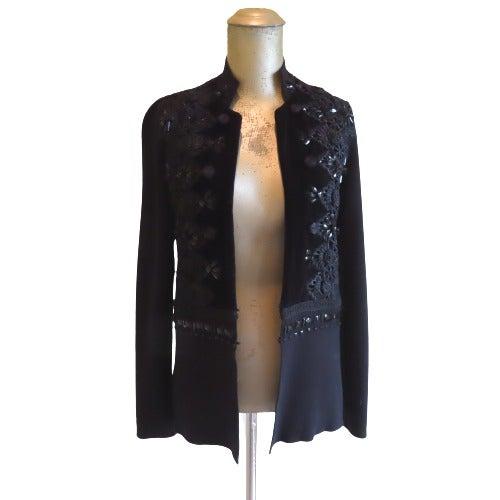 Chico's Black Embellished Blazer Size 0