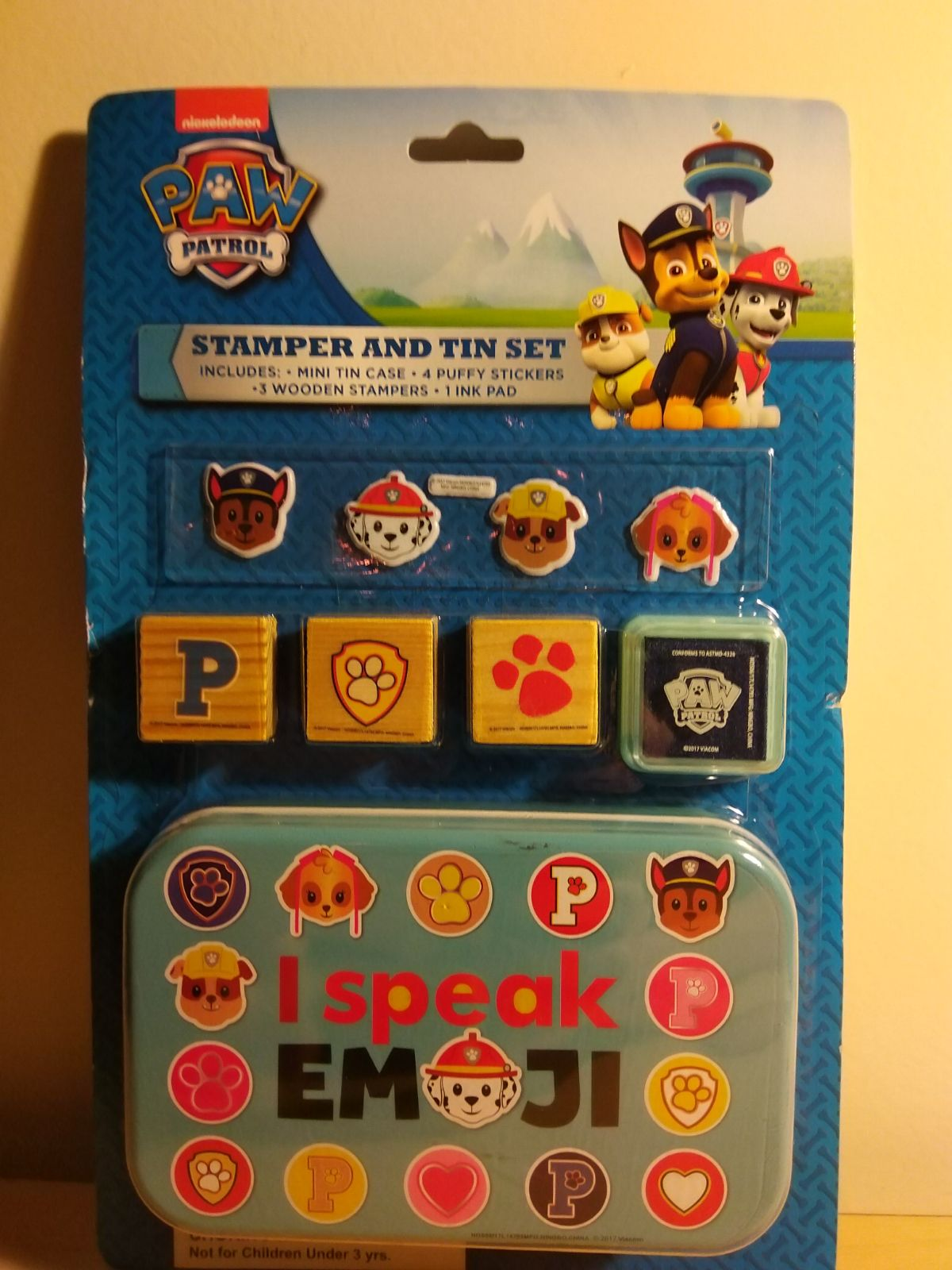 Paw patrol stamper and tin set