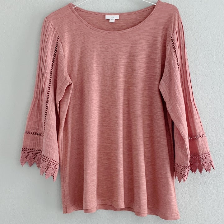 J.Jill Tunic with Crocheted Detail