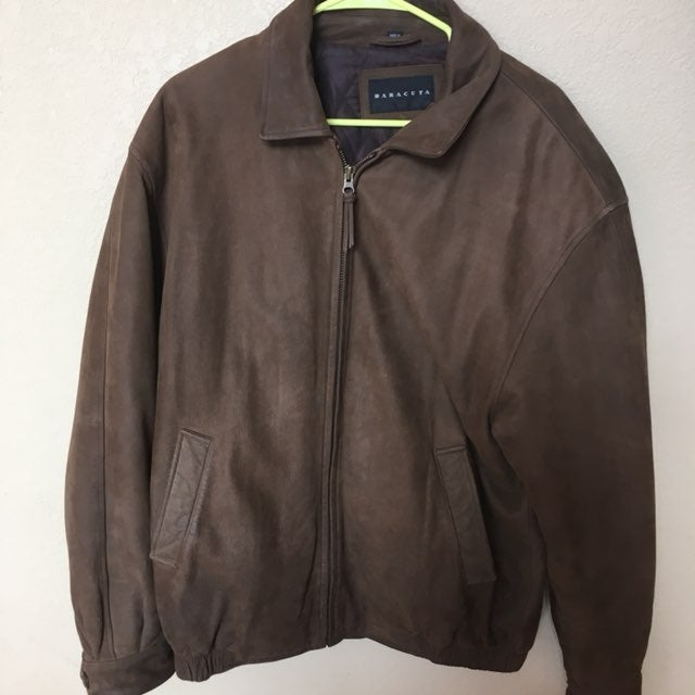 Men's Suede/Leather M Jacket Baracuta