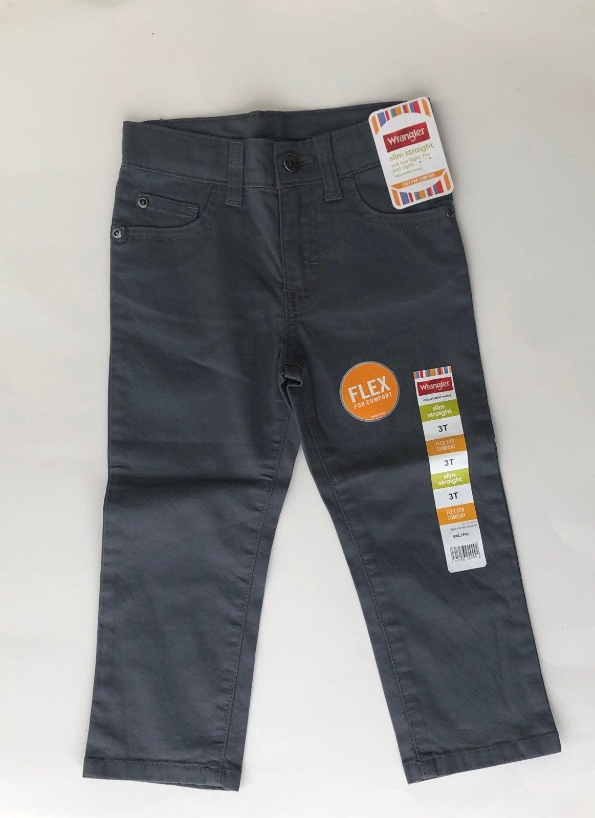 3T Wrangler Gray Pants Slim Straight NWT