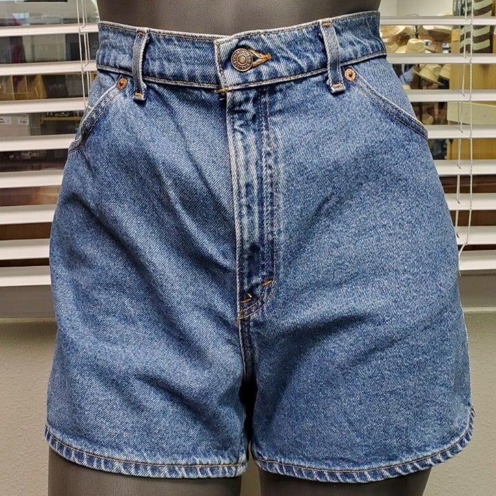 LEVIS 14 Petite Denim High Waist Shorts
