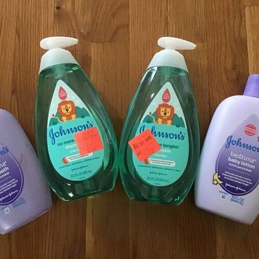 Johnson's Baby Lotion, Body Wash/Shampoo