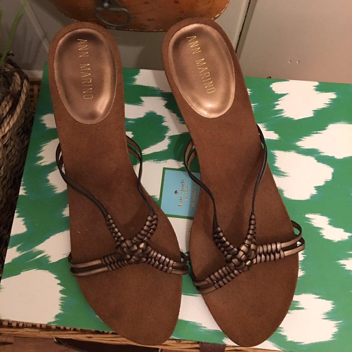 Ann Marino Sandals -9 Kitten Heels ,