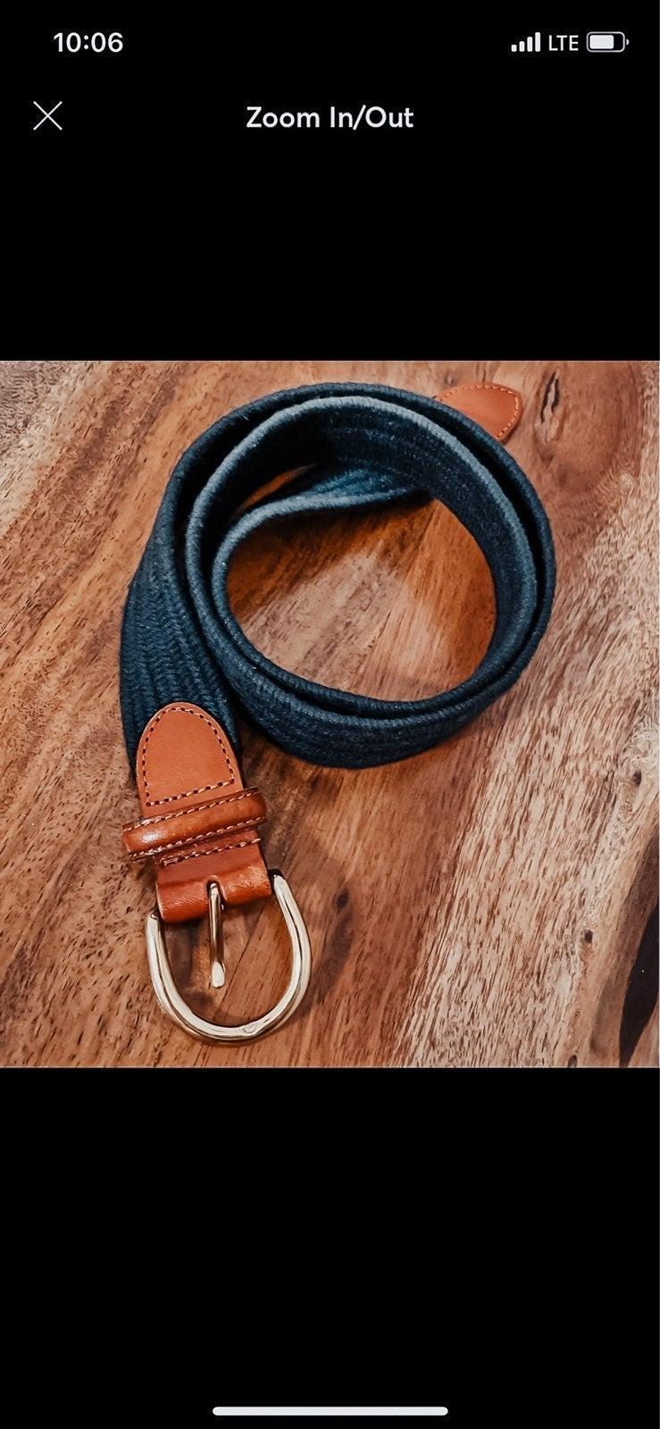 Leather/Solid Brass Talbots Belt