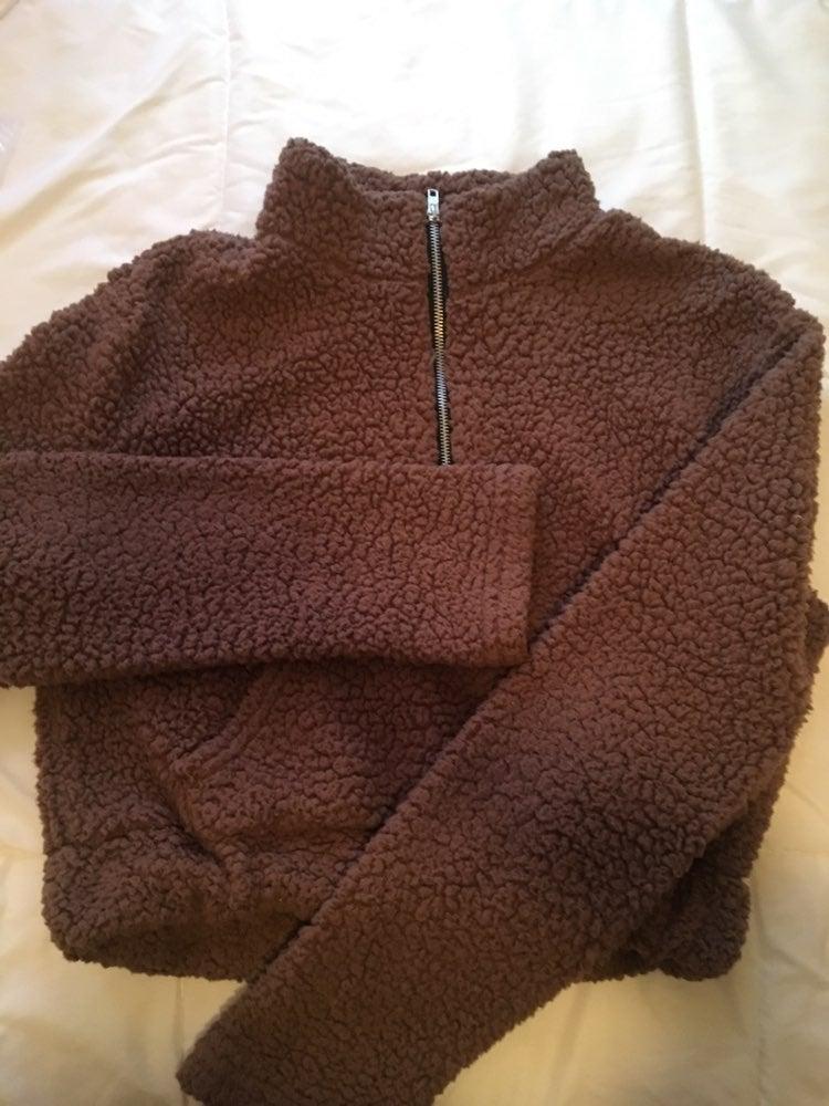 Fluffy Faux Fur Sweatshirt