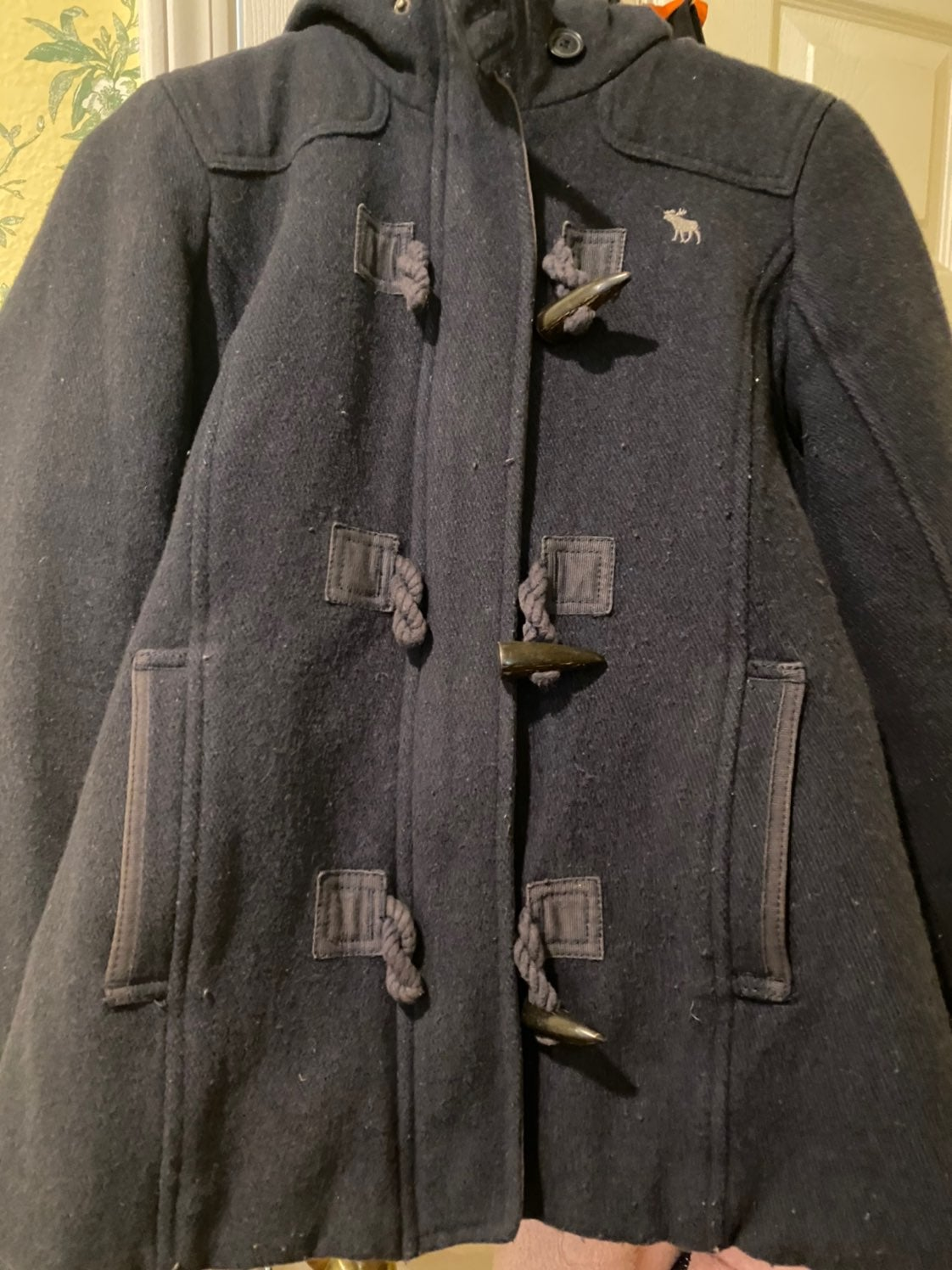 Abercrombie and fitch blue coat