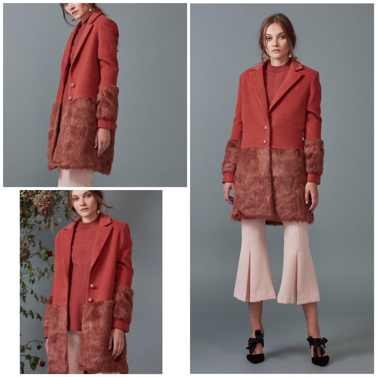NWT Keepsake Shallows Faux Fur Coat M