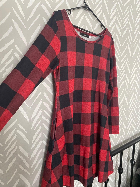 Buffalo plaid dress