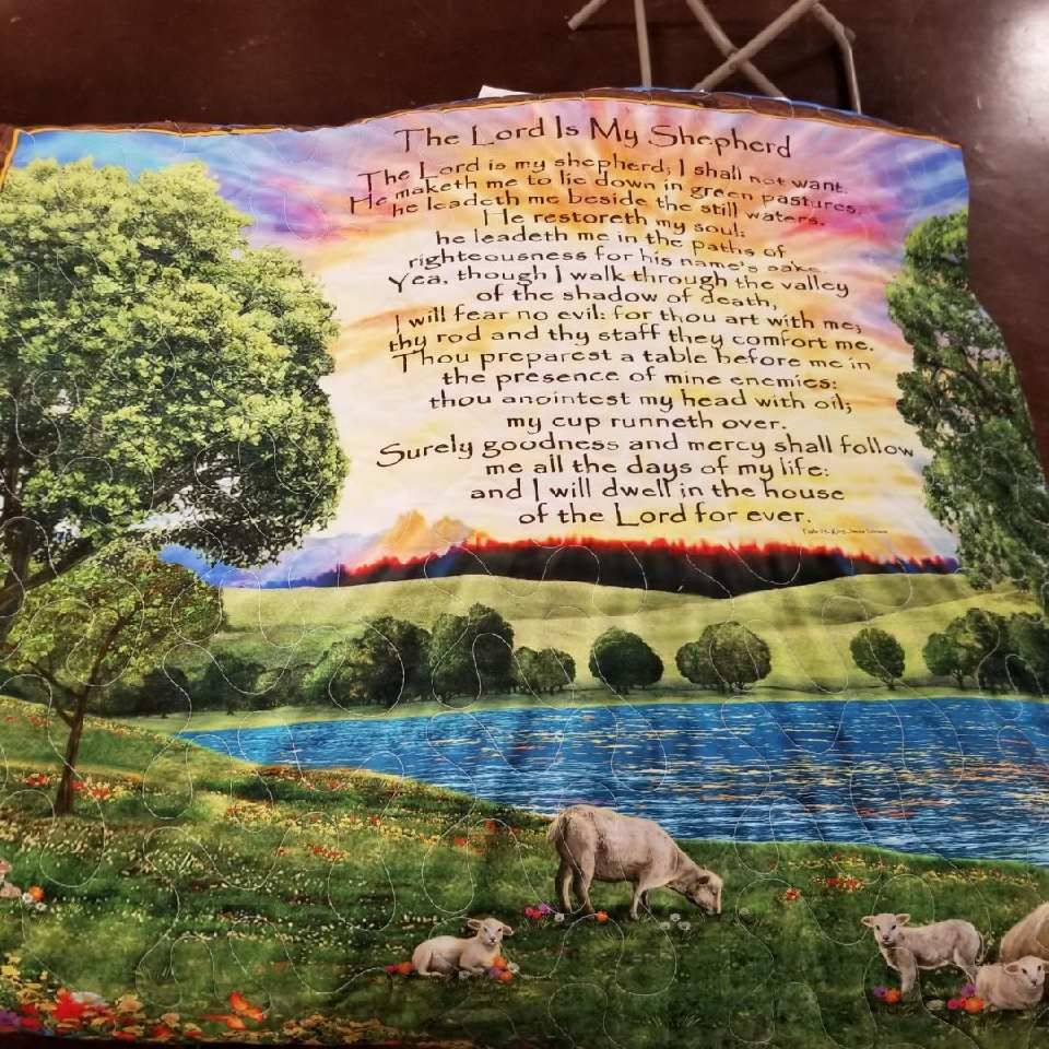 Handmade Quilts - Lord is My Shepherd