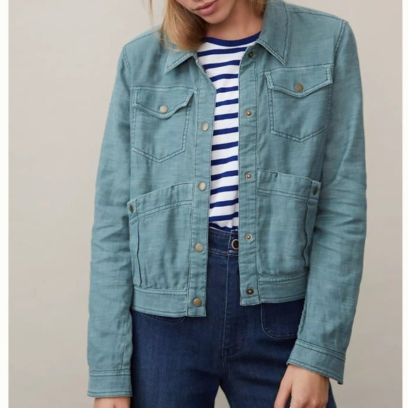 NWT Anthropologie Mags Utility Trucker S