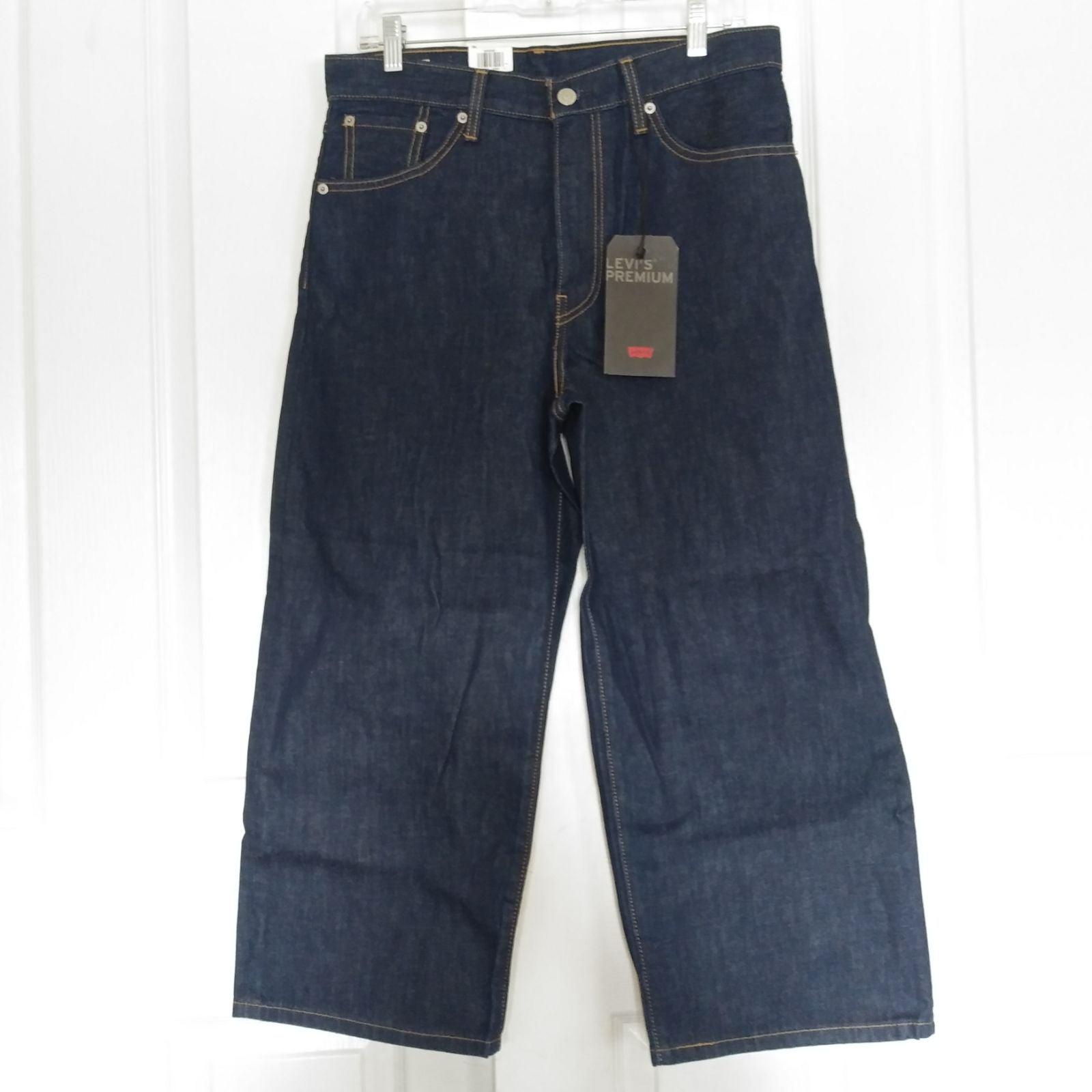 Levis High Rise Dark Wash Crop Jeans