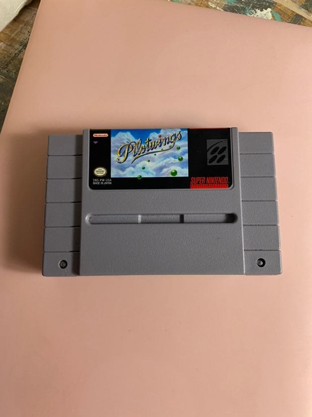 Authentic Pilotwings Nintendo SNES Cart
